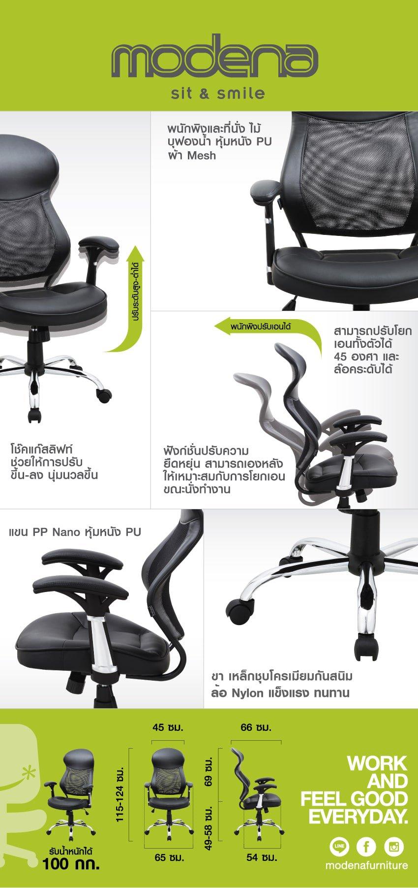 ข้อมูลสินค้า เก้าอี้ผู้บริหาร รุ่น Napa